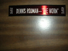 DENNIS RODMAN NAMEPLATE FOR SIGNED BALL CASE/JERSEY CASE/PHOTO