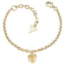 Guess Jewellery Gioielli Bracciale Donna UBB21571-S Dorato Cuore Fiocco Strass