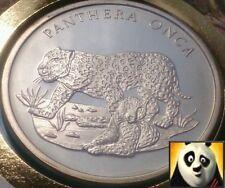 1986 Raro 30th preservar WWF para la Naturaleza Diamante finalizar Medallón Jaguar PNC