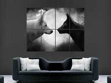 WOLVES BLACK AND WHITE NATURE   ART HUGE IMAGE  LARGE WALL POSTER PICTURE