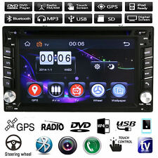"6.2"" 2 Din Touch Car Radio Stereo DVD MP5 USB/TV Player GPS Nav Bluetooth Touch"