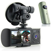 "HD Dual Camera Driving Recorder 2.7"" LCD Dash-Cam Car DVR w/ GPS Logger G-Sensor"