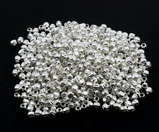 100 silver pumpkin 3mm spacer beads for jewellery making acheter 3 pour 2
