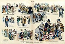 Industrial Trusts Hold Up Uncle Sam at Gun Point Big Business Robs America 1897
