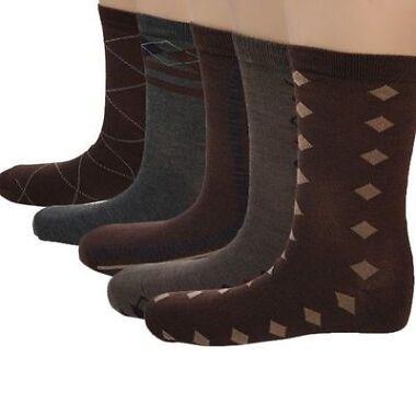 5 Pairs John Weitz Mens Pattern & Argyle Socks