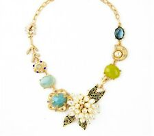 Fashion Charm Snail Mushrooms Group flower Resin Crystal Statement Bib Necklace