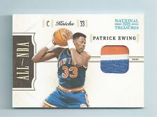 PATRICK EWING 2010/11 NATIONAL TREASURES ALL-NBA 3 COLOR PATCH /25
