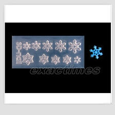 Snowflake Shape 3D Acrylic Nail Art Mold DIY Decoration 1pc