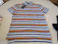 Men's Tommy Hilfiger Polo shirt S small stripes 7841606 Blue as Swatch 474 knit