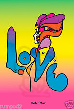 Love Poster/Print/Peter Max/Reproduction/13x19 inch/Pop Art