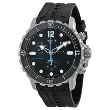 Tissot Seastar 1000 Chronograph Black Dial Black Rubber Mens Watch