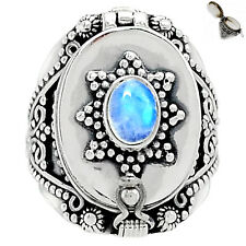 Poison - Moonstone 925 Sterling Silver Ring Jewelry s.7.5 SR173279