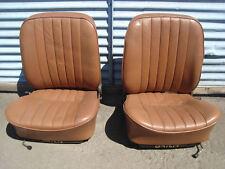 PORSCHE 356 B C SC FRONT SEAT SEATS 356B 356C 356SC BROWN TAN
