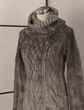 TWIN-SET SIMONA BARBIERI WASHED CABLE CHUNKY WOMEN WOOL CASHMERE JUMPER UK10/12