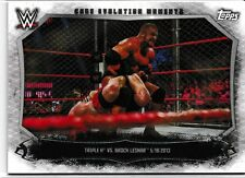 Triple H Brock Lesnar 2015 Topps WWE Undisputed Cage Evolution Moments #CEM13