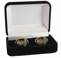 YORKSHIRE REGIMENT CREST ENGRAVED CUFFLINKS, GOLD OR SILVER, NEW & BOXED