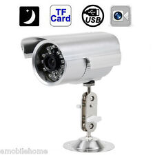 Waterproof Outdoor CCTV Security Camera SD/TF Card Night Vision DVR Recorder EU