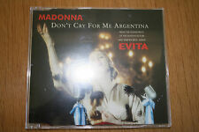Madonna Don't Cry For Me Argentina CD Single From the EVITA Soundtrack 1996 WB
