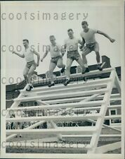 1942 Recruits Obstacle Course US Navy School University of Georgia Press Photo