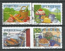 ˳˳ ҉ ˳˳SW29 Sweden Sverige Complete set 2008 Different Biscuits Wine Coffee Fish