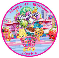 SHOPKINS Personalised Edible WAFER PAPER Cake Decoration Topper Image