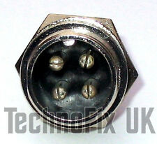 4 pin microphone connector locking chassis panel socket mike (GX16-4)