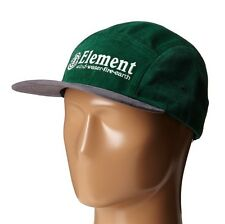 Element HERITAGE Mens Corduroy Buckle Back Hat Deep Sea Green Grey NEW