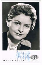 Helga Hesse - original signierte Autogrammkarte - sehr selten