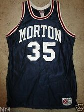 Morton Community College Panthers Illinois Basketball Team Game Worn Jersey 46