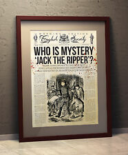 Jack The Ripper  Art Poster - Newspaper