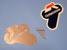 DUCATI  TERMIGNONI ALUMINIUM BADGE  KIT/MED 60MM X60MM/RIVET GUN/SKILLS REQUIRED