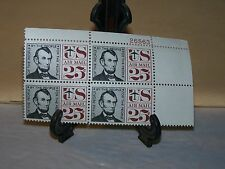 BLOCK OF 4 UNITED STATES POSTAGE ABRAHAM LINCON 25 CENT AIR MAIL UNUSED