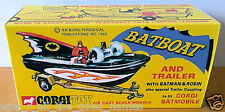 Batman 1966 CORGI Toys 107 BATBOAT & Trailer Reproduction Box on Photo Card