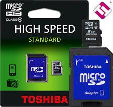 8GB MICRO SD TOSHIBA MEMORIA CLASE 4 MICROSD 8 GB TARJETA + ADAPTADOR SD CARD