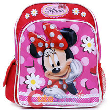 Disney Minnie Mouse Toddler Backpack 10in Small Mini Bag Minnie Dasiy