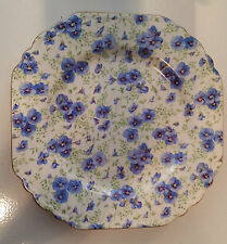 "LORD NELSON WARE - 8 1/2"" SQUARE DESSERT PLATE - PANSY CHINTZ"