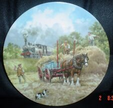 Wedgwood Limited Edition Collectors Plate THE MIDDAY LOCAL Steam Train Horse