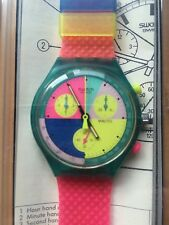 SWATCH CHRONO FLASH ARROW - 1991 - SCL100 - NEW IN BOX