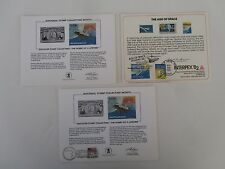 Space, Natl. Stamp Collector Month  (2) 1981  and (1) Interpex Show 1982