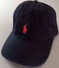 POLO Ralph Lauren Authentic Classic Sport Pony Cap Men's Hat Black Red Cotton