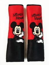 Mickey Mouse Car Accessory #C: 2 pieces Seat Belt Sholder Pads Covers