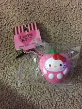 SANRIO HELLO KITTY SQUISHY SCENTED STRAWBERRY FRUIT EAR PHONE JACK W/ BALL CHAIN
