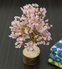Rosenquarz Stein Baum spirituelle Edelsteine Vastu Feng Shui Reiki Tisch Dekor