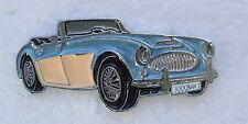 AUSTIN HEALEY 3000, BLUE, ENAMEL LAPEL PIN BADGE. 36x16mm. BUTTERFLY FIXING