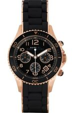 NEW MARC JACOBS MBM2553 BLACK ROCK CHRONOGRAPH WATCH - 2 YEAR WARRANTY
