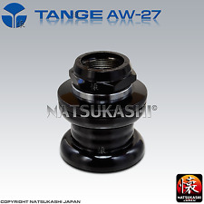 "Tange Seiki AW-27 STAMPED 1"" Inch Threaded Headset Old School BMX Black Chrome"