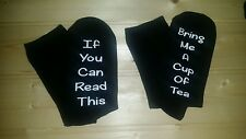 If you can read this/Bring me a Cup of Tea socks Christmas gift
