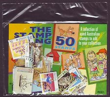 The Original Stamp Gang Collection of 50 Australian Stamps Cancelled to Order