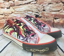 Ed Hardy Tattoo Inspired Womens Canvas Sneakers Shoes Big Cat Tiger Size 6