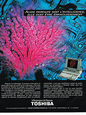 PUBLICITE ADVERTISING  1990   TOSHIBA   ordinateur portable